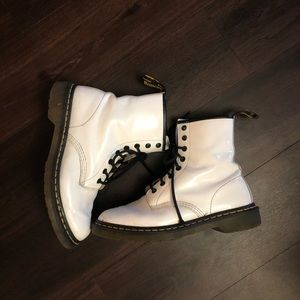 White Dr Martens Boots